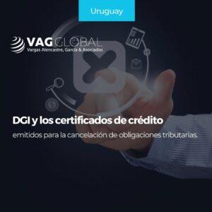 DGI y los certificados de crédito emitidos para la cancelación de obligaciones tributarias.