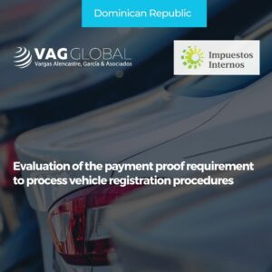 Evaluation of the payment proof requirement to process vehicle registration procedures