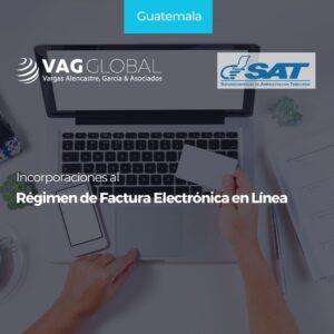 Incorporaciones al Régimen de Factura Electrónica en Línea