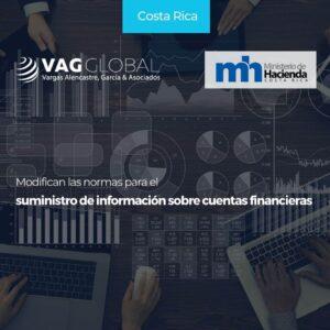 Modifican las normas para el suministro de información sobre cuentas financieras