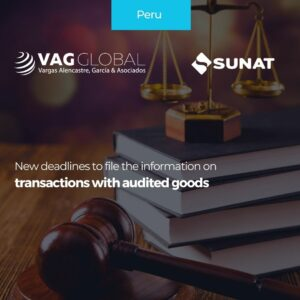 New deadlines to file the information on transactions with audited goods