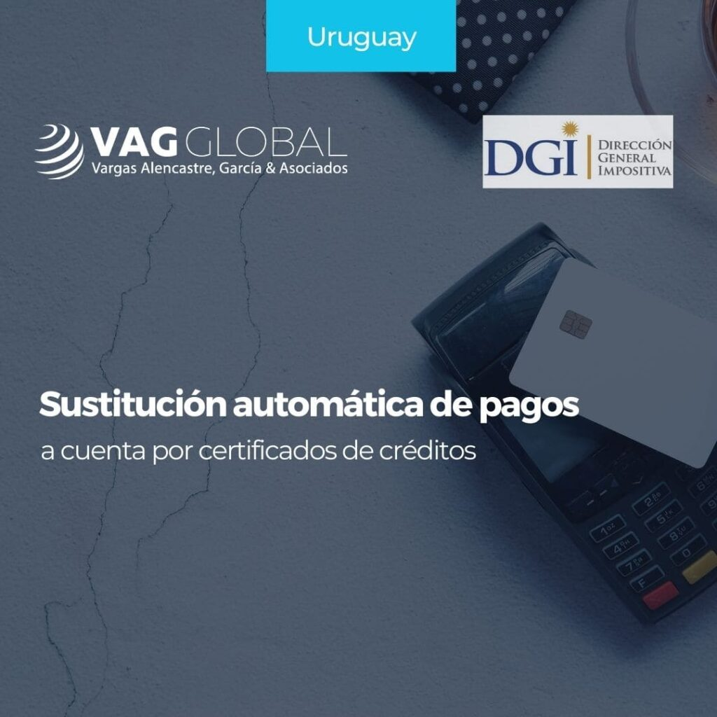 Sustitución automática de pagos a cuenta por certificados de créditos